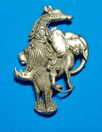 Jungle Animals Pewter Pin Winchester, 22601