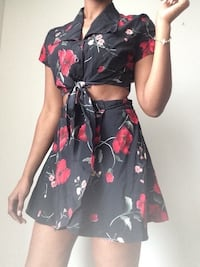 Floral wrap shirt and cropped top Brampton, L6T 0G2