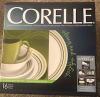 Garden Sketch Bands Corelle dinnerware 16pc Hagerstown, 21740