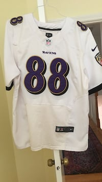White and purple ravens dennis pitta 88 football jersey Baltimore, 21212