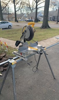 "12"" dewalt miter saw with stand and blade"