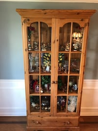 China cabinet reclaimed antique pine barn wood  Clifton