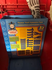Thomas the train track expansion with many trains