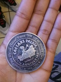 Collectible Caesar palace coin real sliver 20th an Las Vegas, 89107