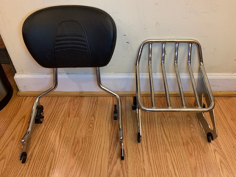 Quick Release Sissy Bar/Pad  and Luggage Rack for HD Touring Bike 668c48f4-2621-410a-80a6-19911961676c