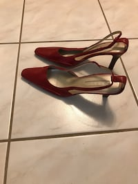 Red leather pump sling back Winslow, 08081
