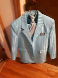 blue and white button-up jacket Calgary, T3J 1L7