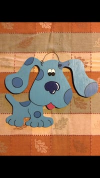 Blue's Clues Wooden wall decor - wire hanger!