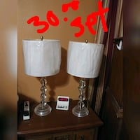 two white and black table lamps Pharr, 78577