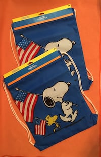 Set D - Red, White and Blue - Snoopy and Woodstock lightweight cinch bags - 2 pcs. Sugar Land, 77479
