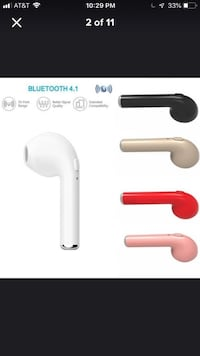 Single Bluetooth Air Ear Bud - comfortable, easy fit! Works with Apple, Google, Microsoft and more! Nashville, 37240