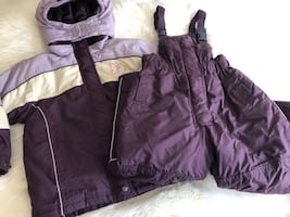 Girls winter snow pant and coat set