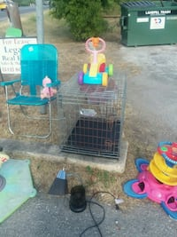 two blue and green plastic pet cages San Marcos, 78666
