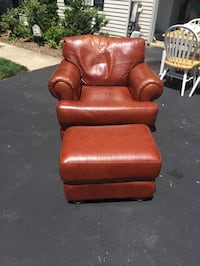 red leather padded sofa chair North Potomac, 20878