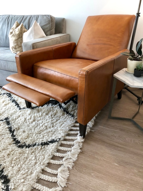 Sold West Elm Sedgwick Leather Recliner