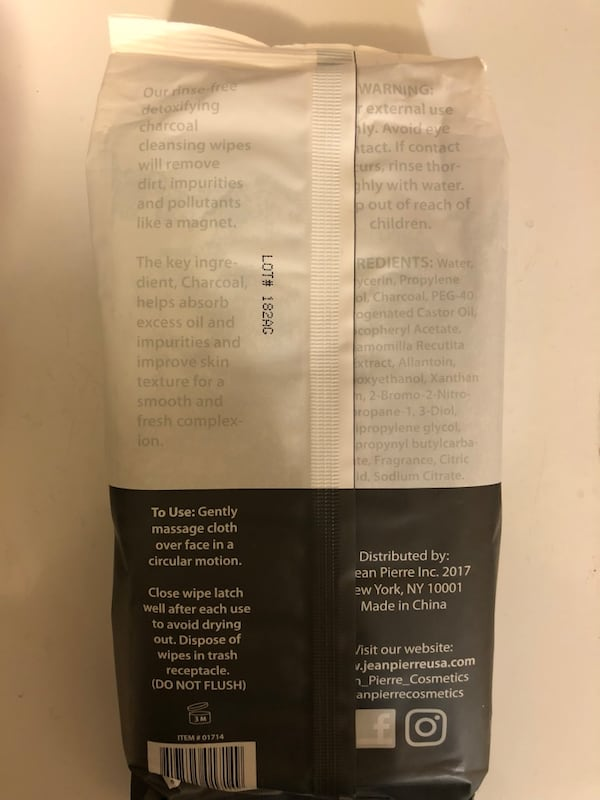 Charcoal Facial Cleansing Wipes  389711ec-eeef-4c91-89db-0d2e46e89ea2