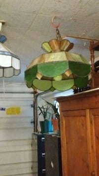 two stained glass pendant lamps Fort Wayne, 46819