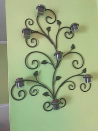 black metal wall-mount candle holder Springfield, 22150
