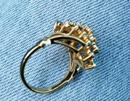 Womens Gold Cocktail Fashion Ring