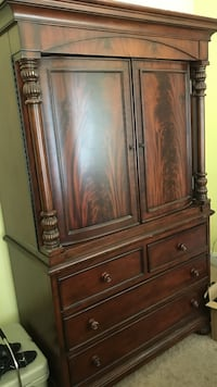 brown wooden armoire cabinet Pearl, 39208