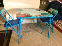 blue and black folding table Cockeysville, 21030