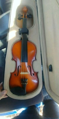 brown violin and case Branson, 65616