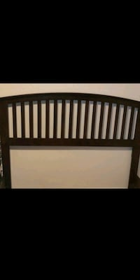Queen wood bed frame