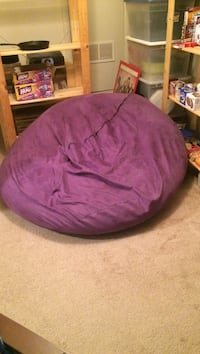 Purple foam bean bag chair. Cover is removable and washable   Glen Burnie, 21061