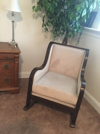 Brown wooden framed cream padded rocking chair Manheim, 17545