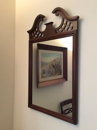 Mahogany Lattice Mirror ROCKVILLE