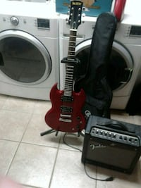 Gutiar amp and case bundle Coquitlam, V3B 3H7
