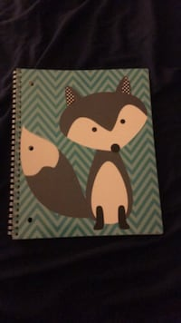 Fox notebook with fuzzy cover Clarksville, 21029