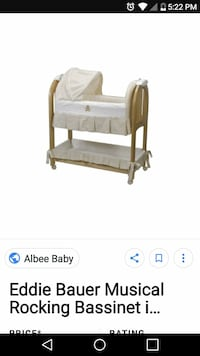 baby's brown and beige rocking bassinet screenshot
