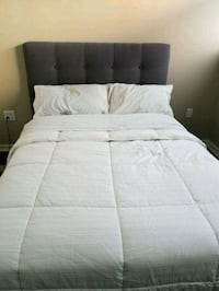 bed frame and headboard with storage and matress Vancouver, V6C 3T3