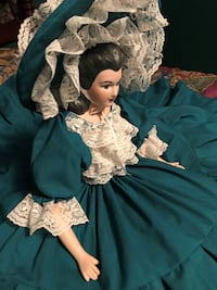 Porcelain and Cloth Handmade Doll