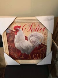 white and red rooster painting Barrie, L4N 5G8