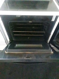 white and black induction range oven Cleveland