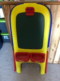 Toddler's yellow, red, and blue crayola plastic easel!