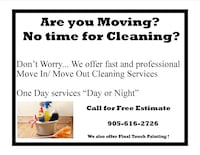 Move In/ Move out Cleaning Service Burlington