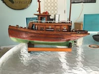 Hand crafted wooden tug boat Myrtle beach, Sc 1939. One of a kind!