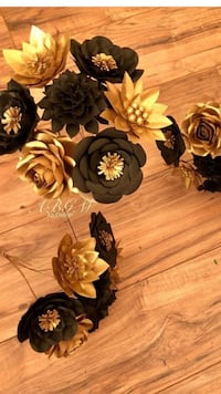 black and gold paper flowers Houston, 77035