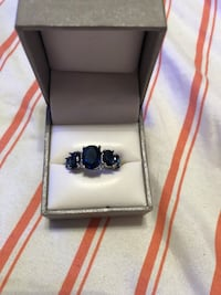 Sterling and sapphire ring 714 mi