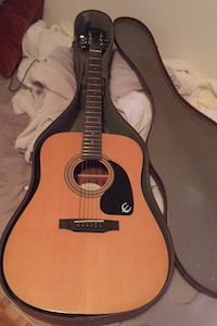 epiphone acoustic guitar with case