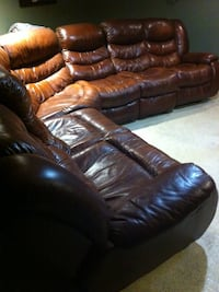 Brown leather sectional  Ludlow, 01056