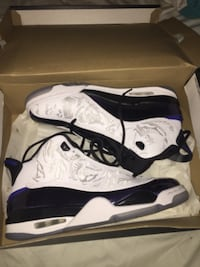 pair of white-and-black Air Jordan shoes Holbrook