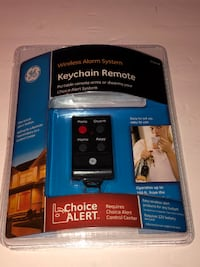 GE Choice Alert Wireless Alarm System Keychain Remote 45144