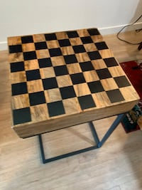 New checkerboard side table