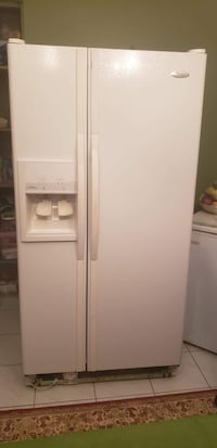 White side-by-side refrigerator with dispenser Gatineau, J9A 1P1