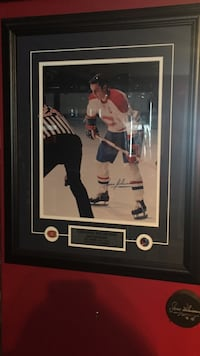 NHL player photo with brown frame Montréal, H1A