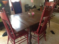 Retro Vintage Dinner Table 4 Chairs Pine Cove, 92549